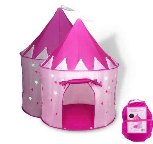 FoxPrint Princess Castle Play Tent Glow in The Dark Stars