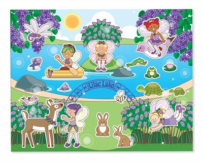 Melissa and Doug Scratch and Sniff Sticker Pad Floral Fairies