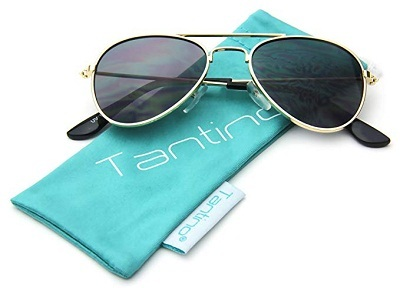 Baby Infant Aviator Fashion Sunglasses by Tantino