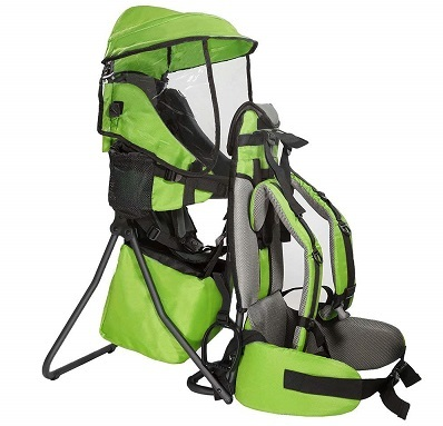 Clevr Cross Country Baby Backpack Hiking Carrier with Stand and Sun Shade Visor Child Kid toddler
