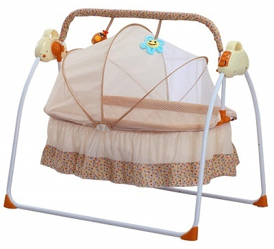 Electric Baby Cradles Bed Auto Baby Crib Cradle Rocking Chair Sleep Bed