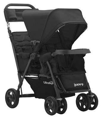 JOOVY Caboose Too Ultralight Graphite Stand On Tandem Stroller