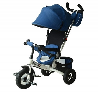 QABA 2 IN 1 CONVERTIBLE FOLDABLE BABY TRICYCLE STROLLER