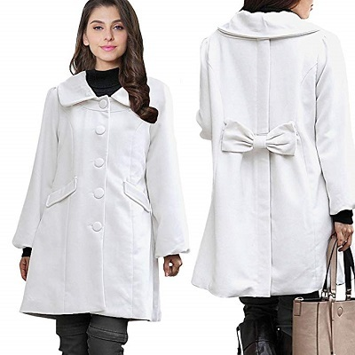 Sweet Mommy Maternity and Mothers Elegant Coat with baby pouch