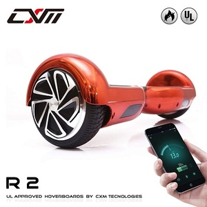 """CXM R2-Hoverboard UL 2272 Certified Self Balancing Electric Scooter 6.5"""" for Adult and Kids with LED Light and App"""